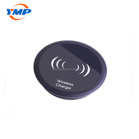New 2018 quick charging furniture embedded wireless charger round qi 7.5w 10w table restaurant wireless charger