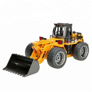 Huina 1520 Toy Model 1/16 2.4G 6 Channel Alloy Metal Remote Control Loader RC Construction Truck Excavator Bulldozer