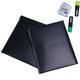Waterproof shock-resistance black holographic custom poly bubble mailer