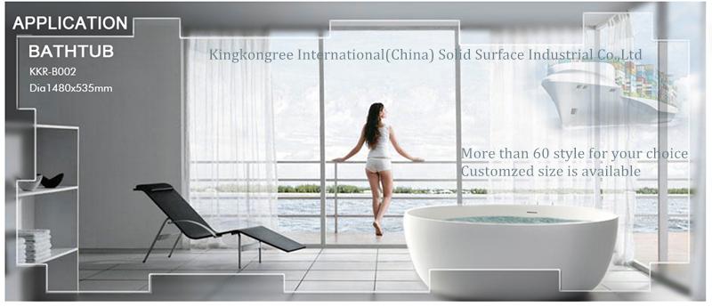 Kkr Bathroom Ware Oasis Bathtubs Arcylic Stone Resin Bathtub