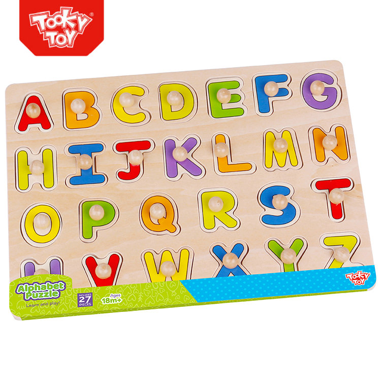 Children Game Imagin Educational Wooden Alphabet Puzzle Toy