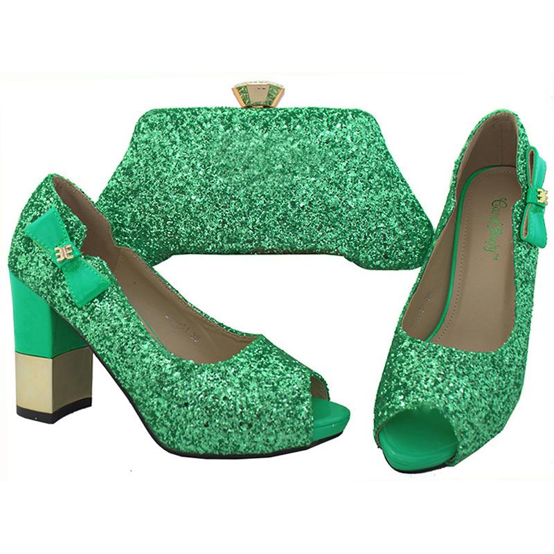 and baby Sinyafashion green fashion italian shoes set dress Guangzhou matching bag party zrdrqwa