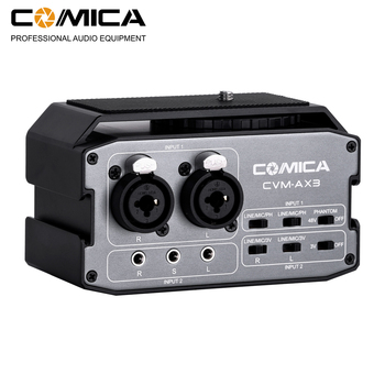 Comica CVM-AX3 XRL/6.35MM/3.5MM Dual-Groups Audio Mixer