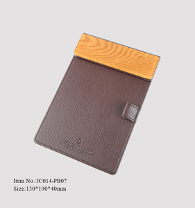 Hot Stamping Logo PU Leather Coffee Restaurant Receipt holder