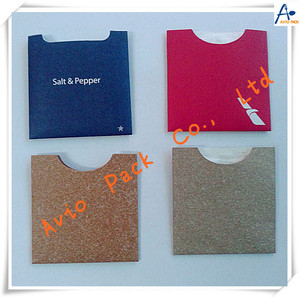 inflight salt&pepper sachets with cover