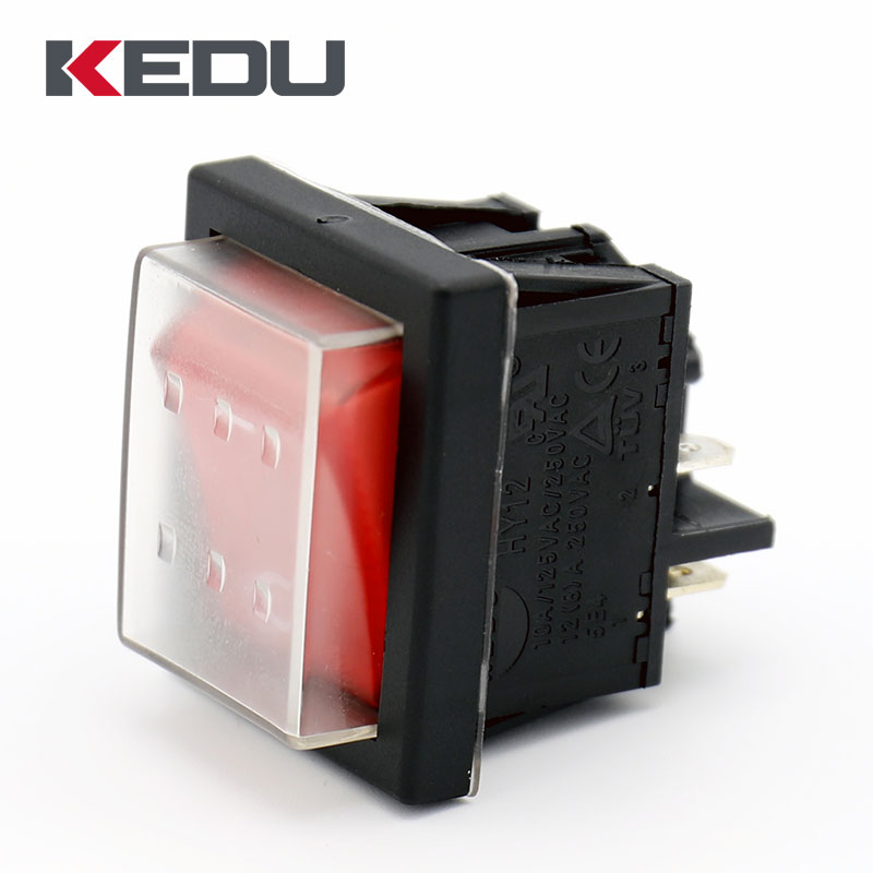 KEDU HY12 4Pins Waterproof DPST Rocker Switch On Off Pushbutton Switches 2-Pack