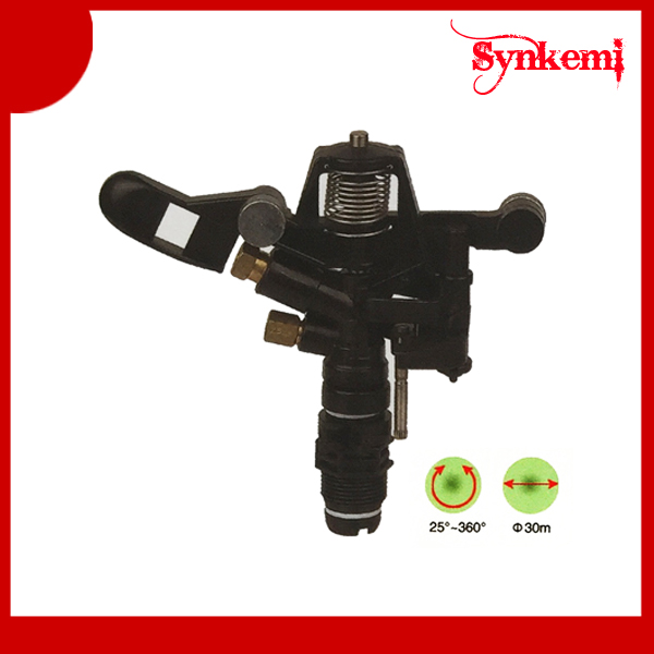 Plastic water irrigation sprinkler gun