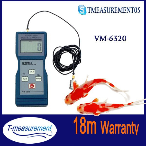 VM6320 Digital vibrometer, portable vibration monitoring