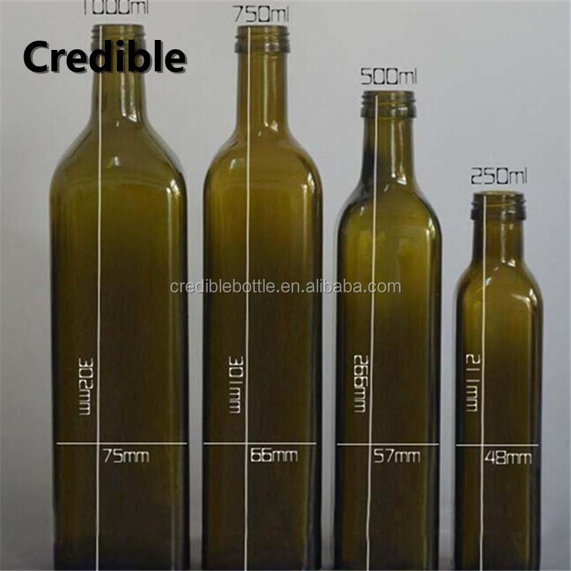 125ml 250ml 500ml 750ml 10000ml 1l green olive oil bottles empty glass bottles for olive oil - Many times can reuse frying oil ...