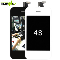 Competitive price for apple iphone 4 4s lcd front and back cover colorful replacement