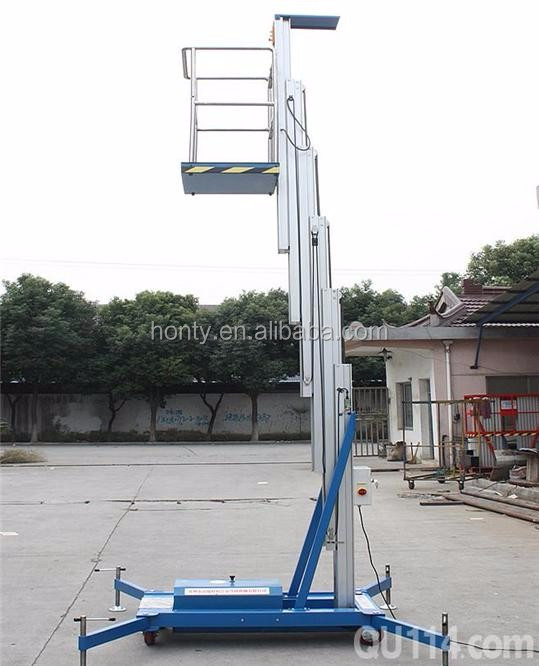 2016 Hot sale mobile electric telescopic lift platform portable vertical man lift work platform