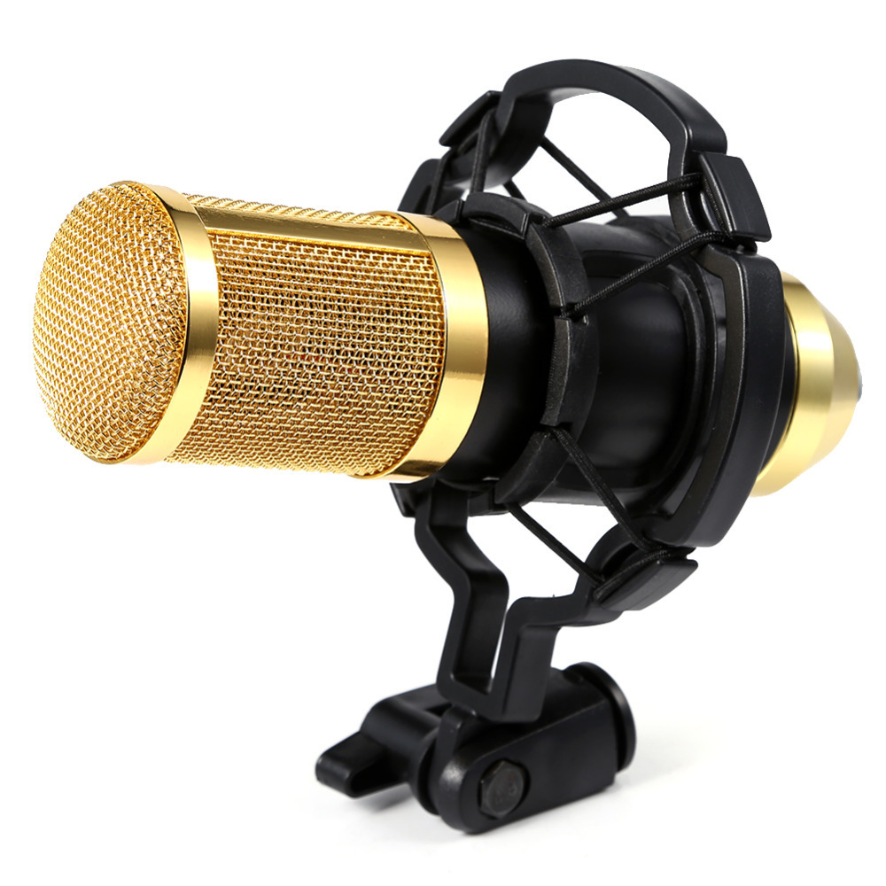 high quality stereo condenser microphone sound studio dynamic mic with shock mount for chatting. Black Bedroom Furniture Sets. Home Design Ideas