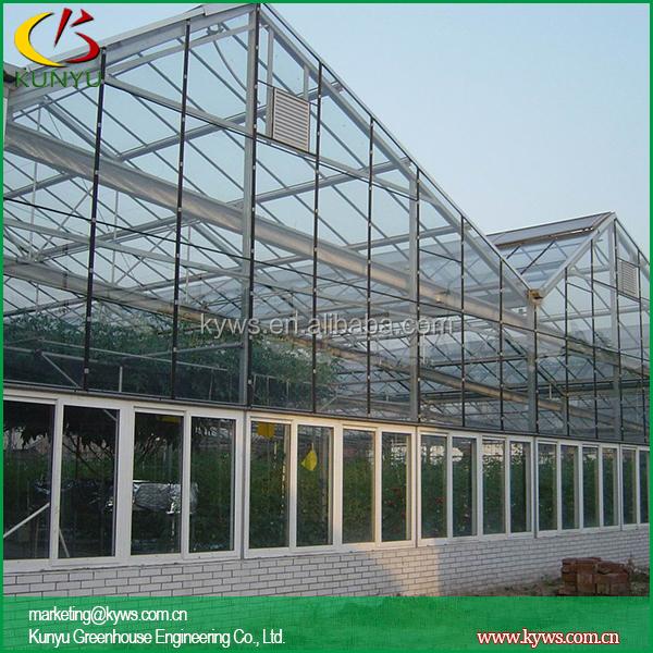 Venlo techo mini vidrio invernadero invernadero paneles de - Invernadero de cristal ...