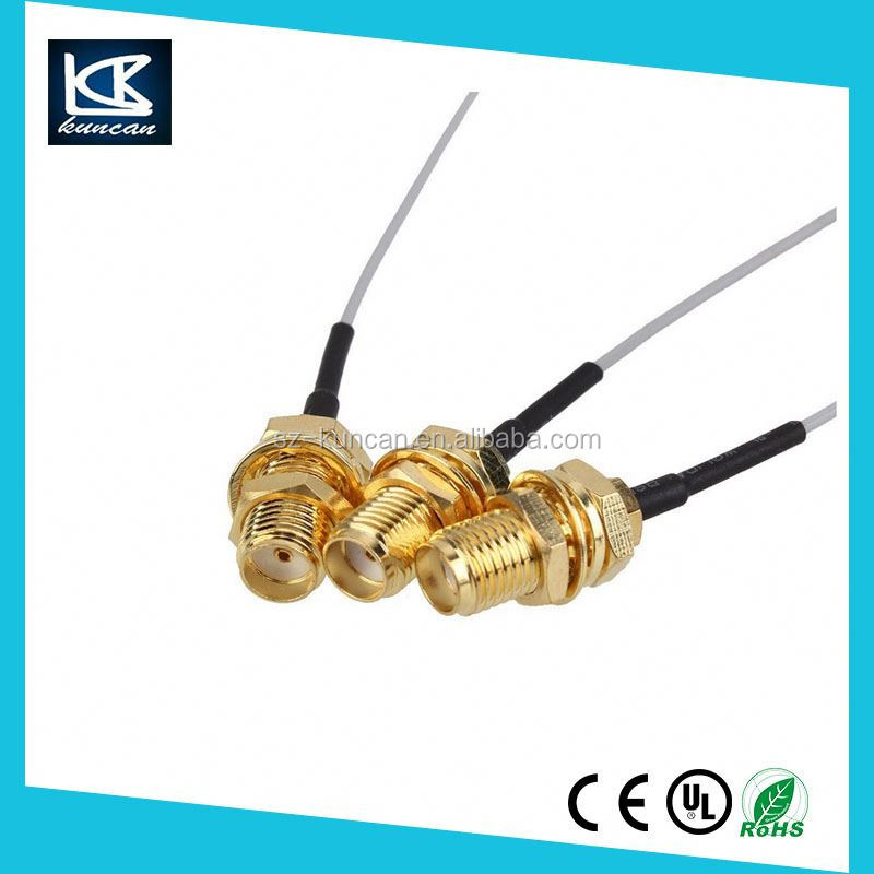 Alibaba wholesale male rg 58 jumper cable RF coaxial cable assembly with SMA/SMB/BNC/MCX/MMCX/IPEX Connectors