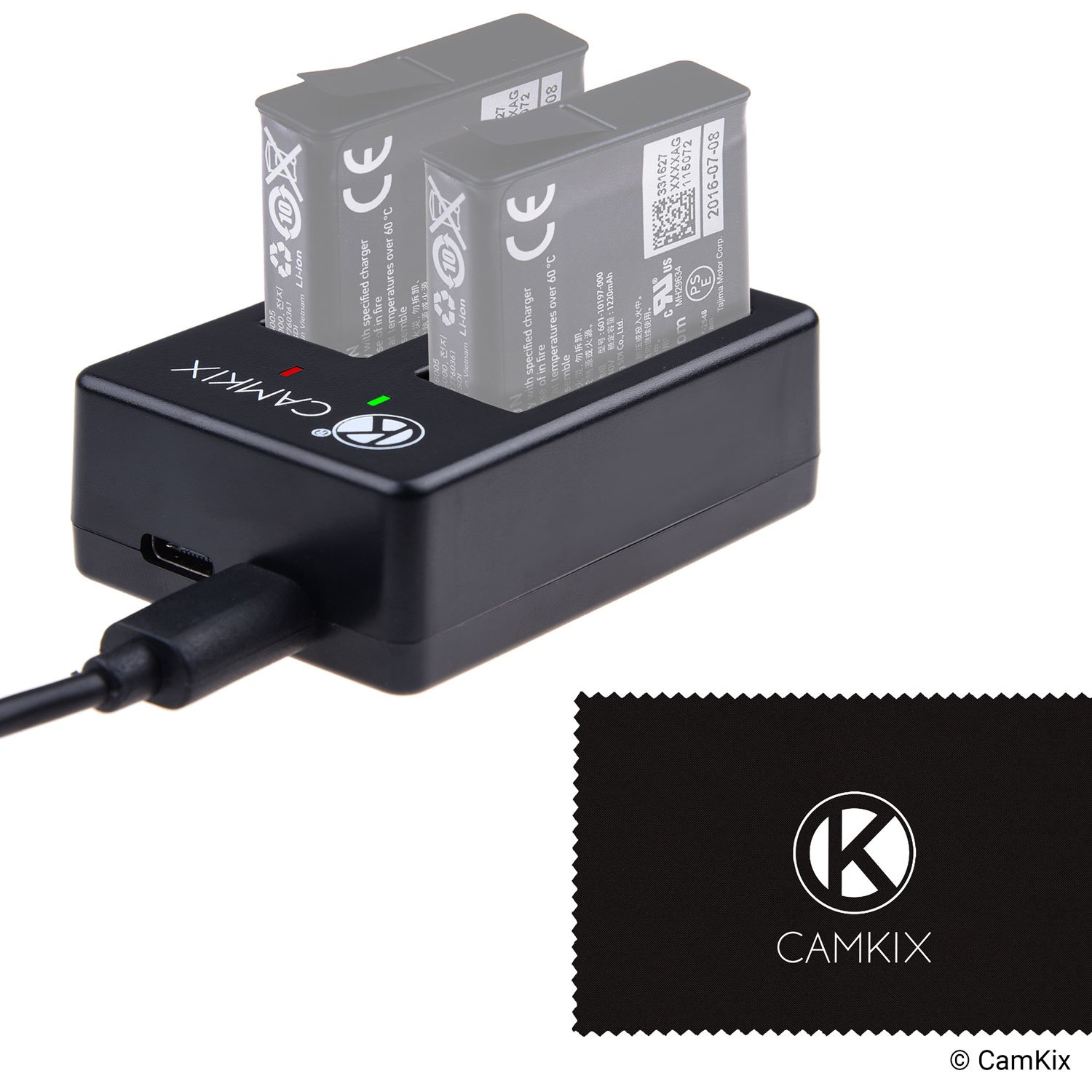 Buy Camkix Dual Pro Charger For Gopro Hero 5 Batteries Aabat 001 Usb Wiring Red White Black Green Quickly