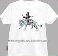 2013 men's 100% preshrunk dry fit white cotton sports t-shirt with sports print