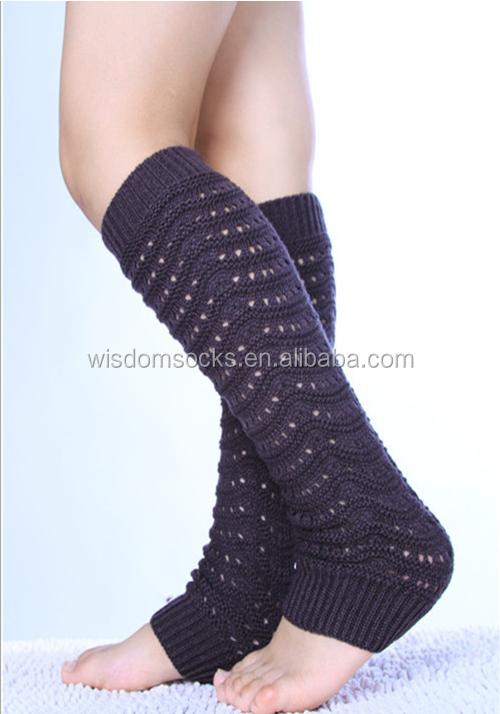 knit100% acrylic colorful boho fashion girl winter custom Leg Warmers