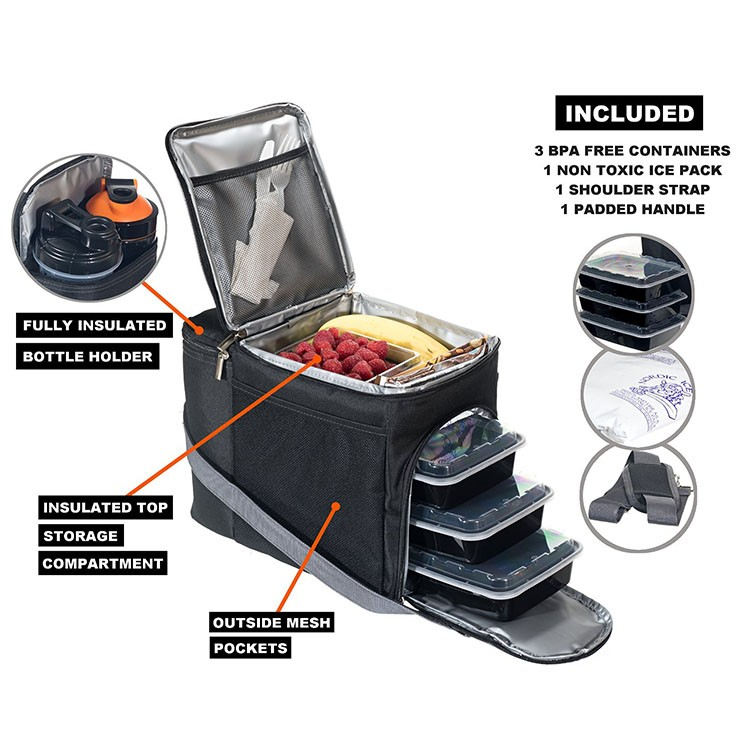 picnic ice cooler box cooler portable freezer fitness meal prep bag buy meal prep bag picnic. Black Bedroom Furniture Sets. Home Design Ideas