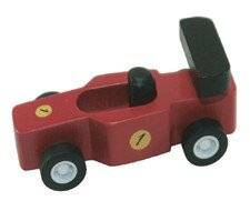 Mini Wood Toy Race Car Made from Durable Wood for Boys and Girls