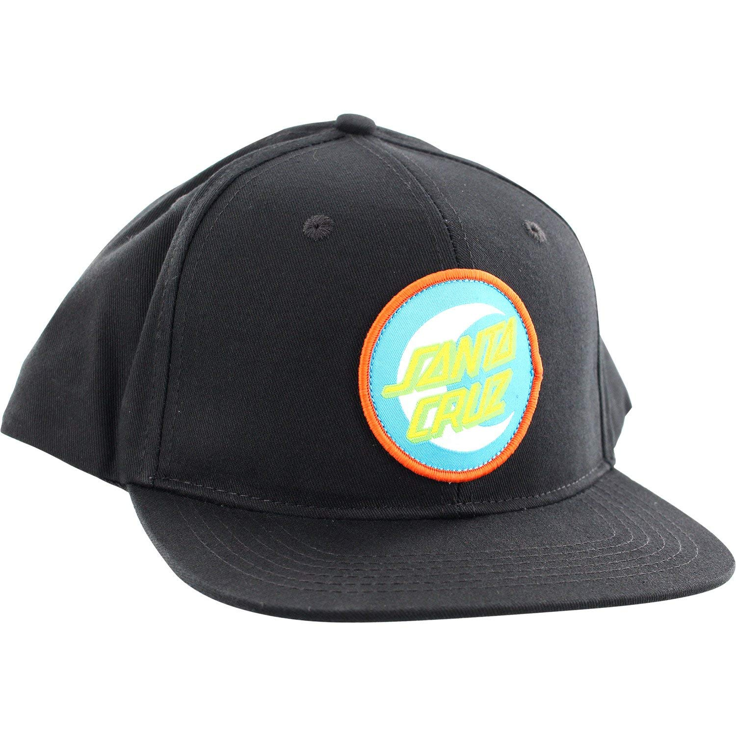 db44f0fef7fd3 Get Quotations · Santa Cruz Skateboards Moon Dot Badge Black Snapback Hat -  Adjustable