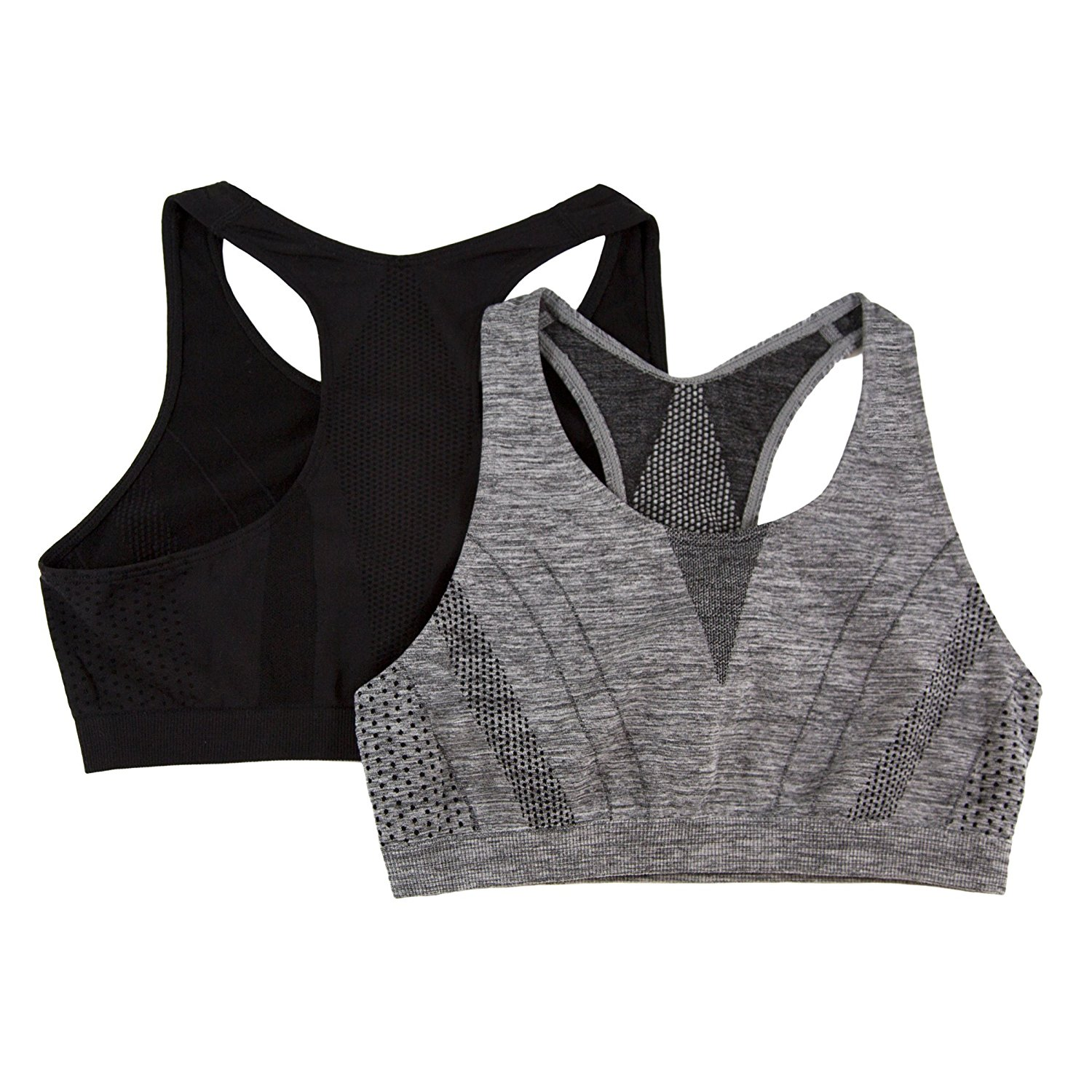 d1d3200580 Get Quotations · Fruit of the Loom Girls  Big Performance Racerback Sport  Bras 2 Pack