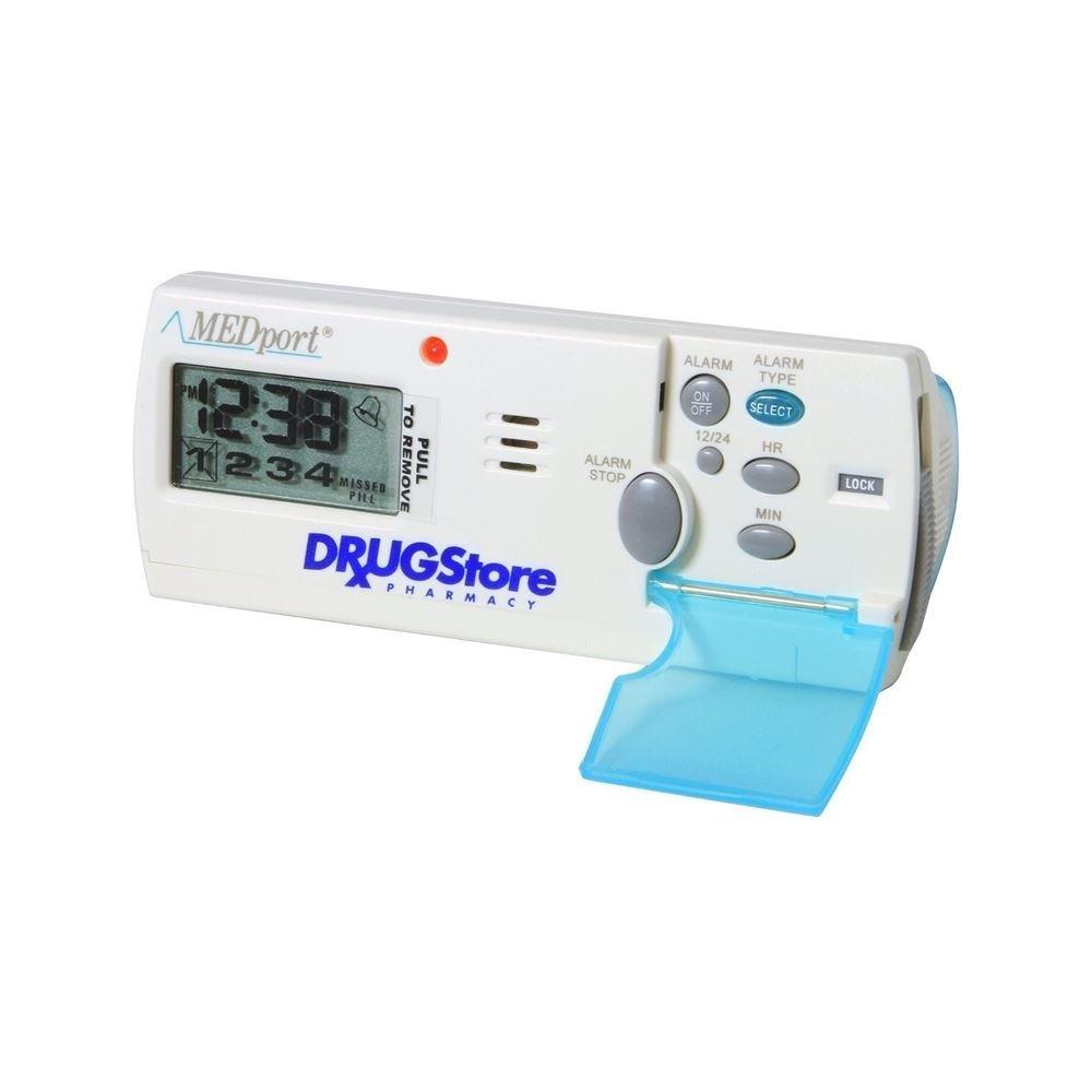 MEDport Medglider System 1 With Talking Timer Alarm Pill Box Daily Rem