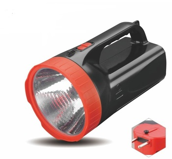 Rechargeable solar led flashlight energy-saving portable torch