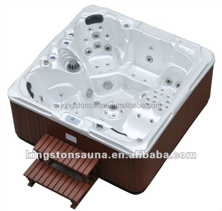 Cedar wooden hot tubs swimming spas JCS-37 with one long lounge and foot massage