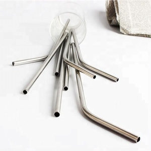 Long 10.5 Inch Stainless Steel Straws in bar accessories