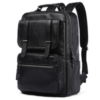 MOYYI High Quality Leather Laptop retreat backpack Custom Men Travel Leisure Backpack male