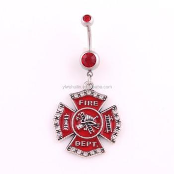 Hk 052 Yiwu Huilin Jewelry Red Enamel Memorial Urn Engraved With