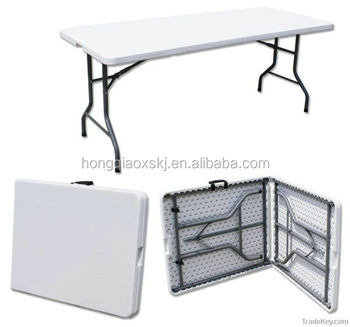 6ft Plastic Fold In Half Table HQ Z183|fold In Half Table Picnic Banque