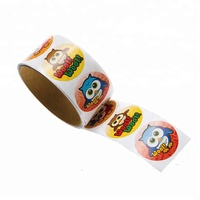 Cartoon baby sanitizer stickers for kids
