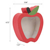 apple shaped clear window box custom candy packaging