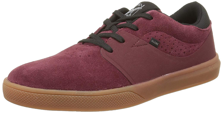 15a20eb51c Get Quotations · Globe Mahalo SG Skate Shoes - Burgundy Gum