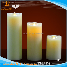Dancing flame led candle paraffin wax moving flame led candle with real flame