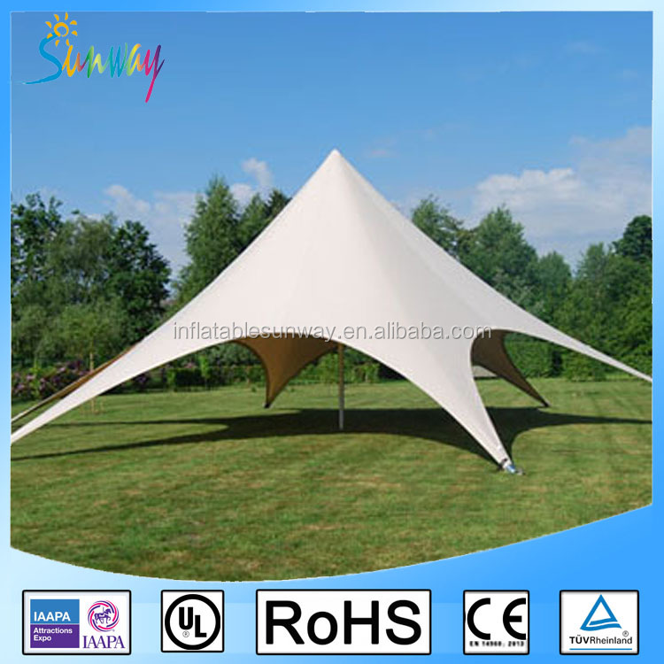 Outdoor White Star Shaped Tent Star Marquess Waterproof Star Tent