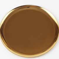 Luxury rose gold Metal Glass Decorative-tray
