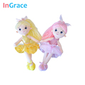 InGrace 7 colors mini ballerina dolls for girls gifts 30CM princess colorful doll soft stuffed decoration