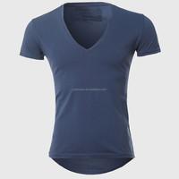 Men's slim v-neck dri fit shirts