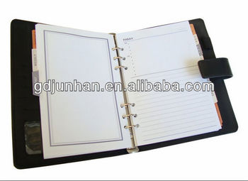 personalized leather day planner