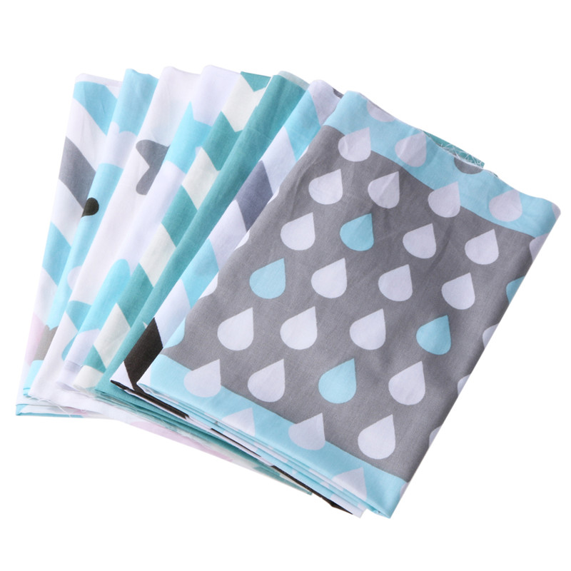 8pcs/lot 40cm*50cm Blue Pre-Cut Charm Cotton Fabric Fat Quaters Sewing Quilting Scrapbooking Patchwork Fabric diy tecido tissue