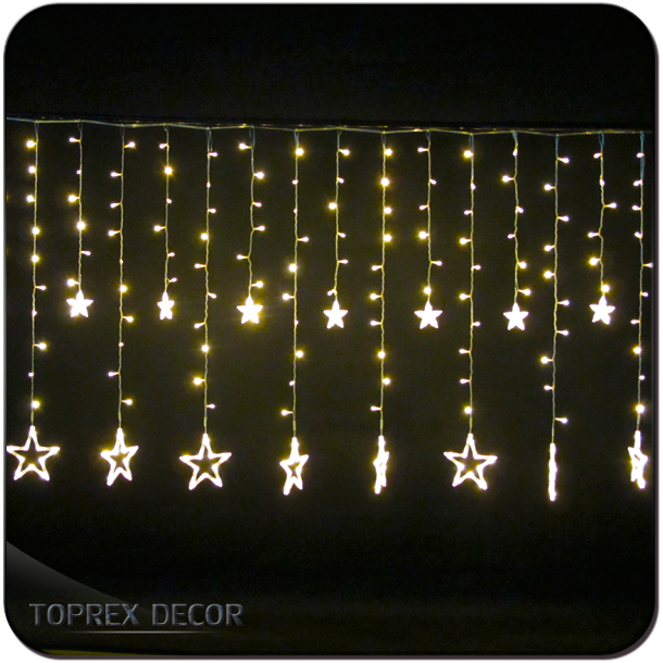 2018 room decoration led twinkle christmas icicle curtain Dripping Light