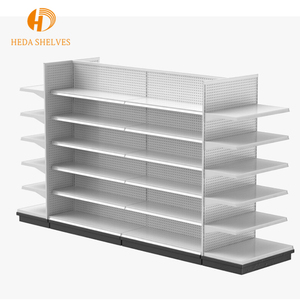 Competitive price shelving customized double sided gondola supermarket steel shelf