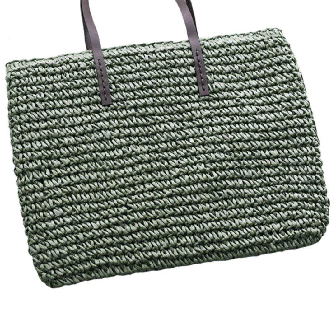 Get Quotations · Women Straw Beach Bag Durable Weave Female Bucket Handbag  Casual Knitting Rattan Tote Hobos Bags Feminine 12966f82a695c