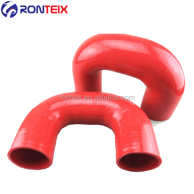 83MM SILICONE POLYESTER REINFORCED HOSE 90 DEGREE ELBOW BLACK 150MM