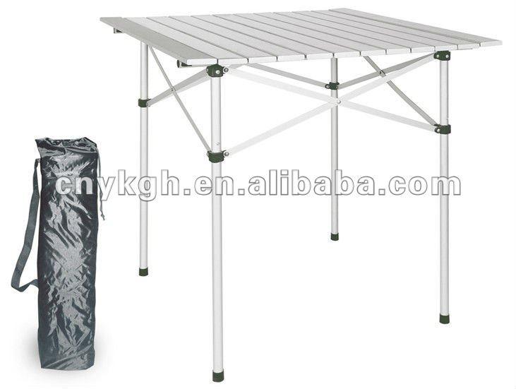 Plegable de aluminio de camping mesas plegables for Mesa de camping plegable de aluminio