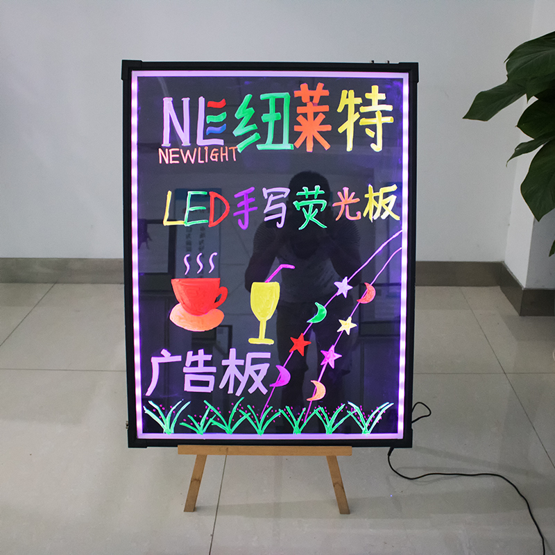 Various Size Acrylic or glass Erasable LED message writing board for advertising