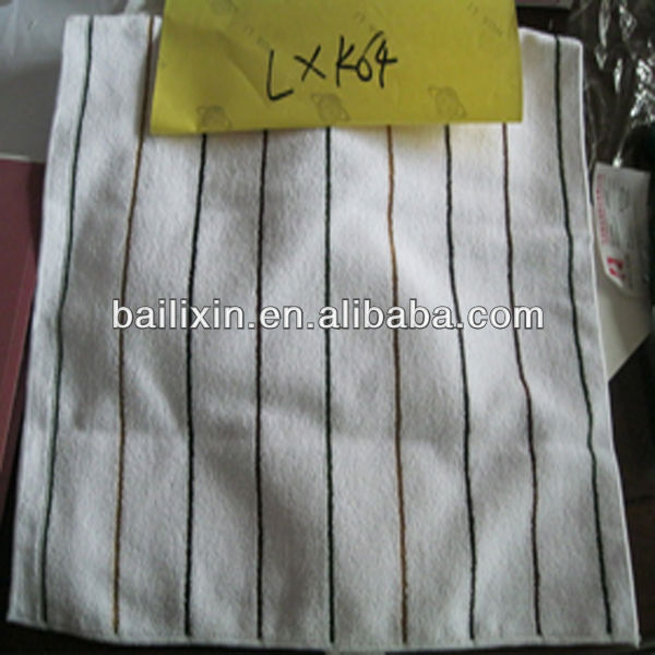 stripe cleaning square towels