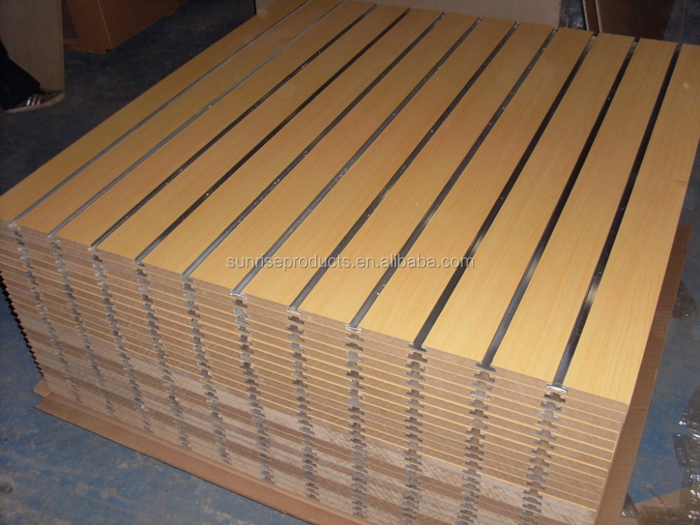 18mm grooved MDF board with aluminium